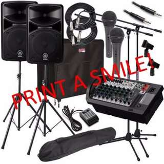 Engage our PA sound system package for your events!