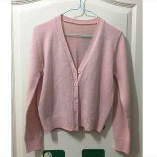 粉針織外套、罩衫