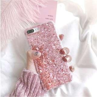 Iphone 7/8 plus case - Pink Glitter