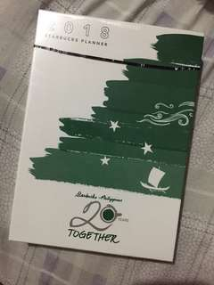 2018 Starbucks Planner (green/small)