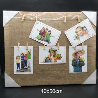 Wooden photo clip frame