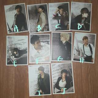 Super Junior Diary Postcards