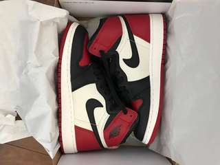 Air Jordan's Bred Toes size 6 (kid size)