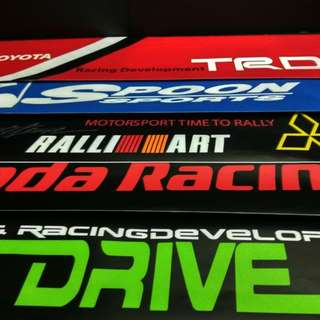 WINDSCREEN STICKER HONDA SPOON M7 TOYOTA RALLIART