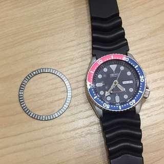 潛水錶 鋁質錶圈貼片(不是手錶) Seiko SKX007/009適用