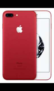 Red IPhone 7 Plus 256GB (Balance 2 months warranty)