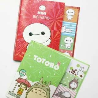 Sticky notes baymax dan totoro