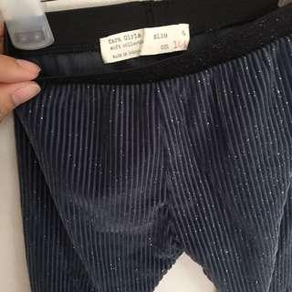 Zara shimmering toddler trouser