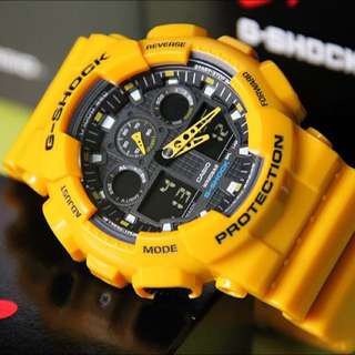 BNIB Bumblebee Yellow Gshock GA100 Casio G-Shock with FREE DELIVERY 100% Authentic Unisex