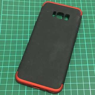 Case samsung s8 plus double dip red