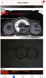 Speedometer instrument decoration rings for 86 BRZ