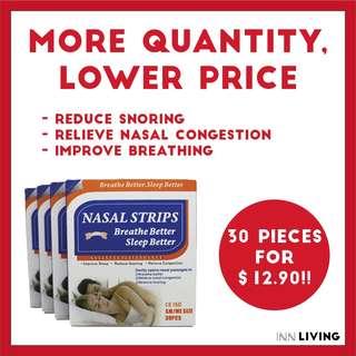 Better Breath   30 pcs Nasal Strips for reduce snoring