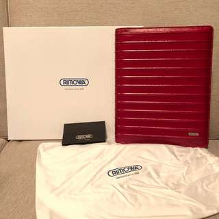 Rimowa Red Leather Notebook Case