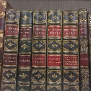Charles Dickens 6本古董書