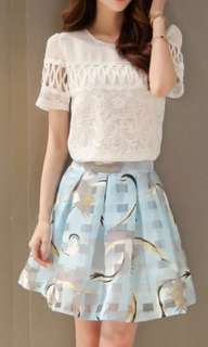 Set top and skirt never used