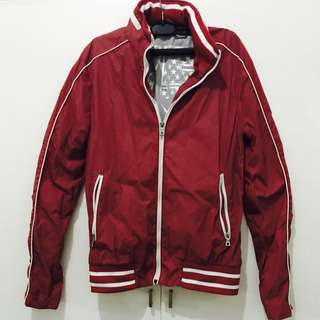 Springfield vintage jacket with zip up hoodie (Red)