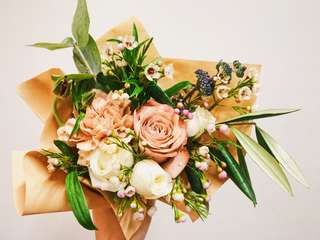 FLASH SALE: Sand Rose Fresh Flower Bouquet - Anniversary/ Birthday / Everyday