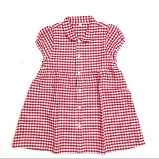 無印良品Muji 童裝女童幼兒柔軟有機棉牛津布洋裝短裙 連身裙