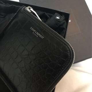 Saint Laurent Paris L zip wallet slp card holder