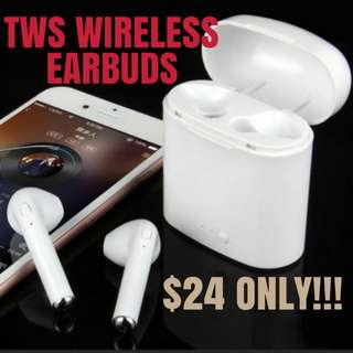 BNIB I7s TWS Wireless Bluetooth Airpods Earbuds with Charging Case