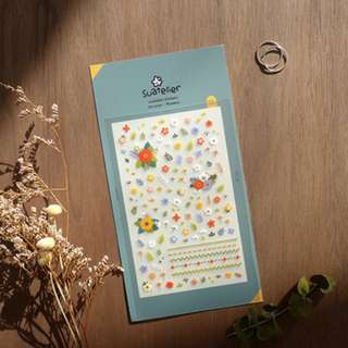 Only 1 Instock! (Mix & Match)*Suatelier Korea - Flower theme Stickers