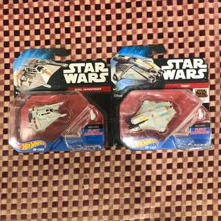Hot Wheels: Star Wars Starships set of 2 (Force Awaken Packaging)