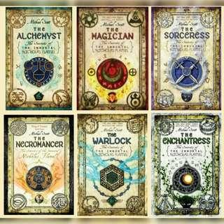 The Secrets of the Immortal Nicholas Flamel series by Michael Scott (#1-#6) + 2 other Companion Novels