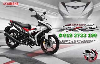 COVERSET Y15ZR EXCITER 150 RC PUTIH HITAM WHITE BLACK 2016 / 2017