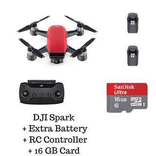 DJI Spark Standard + Extra Battery & Controller