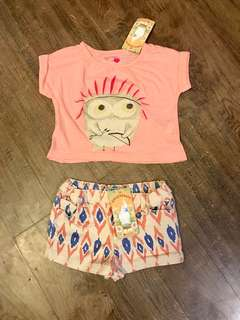 Gingersnaps Shirt and Shorts Set