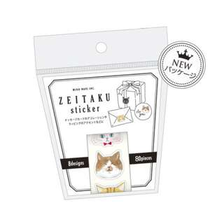 (Mix & Match)*Mind Wave Japan - Zeitaku Stickers Roll Neko