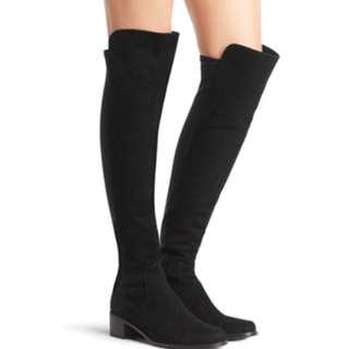 (門市賣$6300)Stuart Weitzman Reserve suede boots eu 37.5(38)