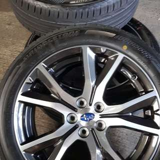 "Brand new 2018 model Impreza original  ""Enkei""Rims w brand new 17"" tyres"