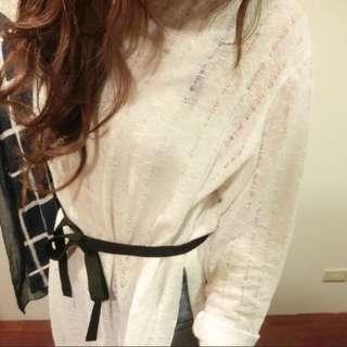 🚚 針織長洋罩衫