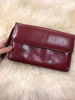 Vintage Cartier Red Clutch - Preloved, Good Condition