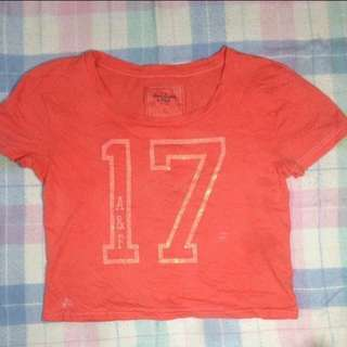 A&F orange crop top