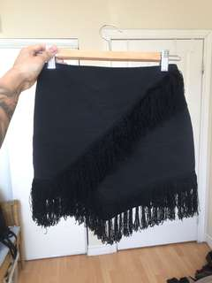 TOPSHOP Fringe Mini Skirt (32)