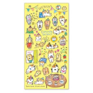 (Mix & Match)*Mind Wave Japan - Goro Goro Nyansuke Party theme Stickers