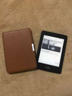 Kindle Paperwhite 7th Gen 2015 with Leather Cover