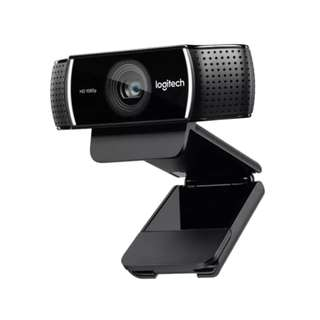 Logitech C922 Full HD Pro Stream Webcam with Background Replacement Feature and Tripod for Video