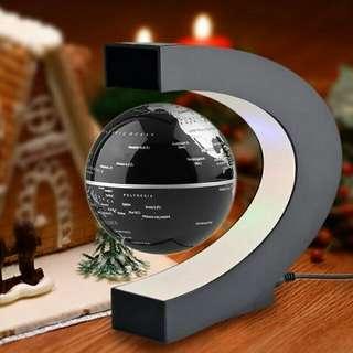 Dekorasi globe melayang magnetic dengan LED