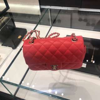 Chanel mini flap 20cm (Red lambskin)
