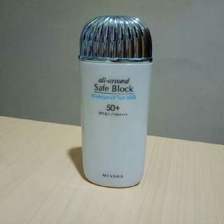 missha all around safe block waterproof sun milk (sunblock sunscreen)
