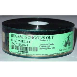 Recess: School's Out ~ 35mm Movie Film Cels / Trailer - Disney Animation (Free Postage)