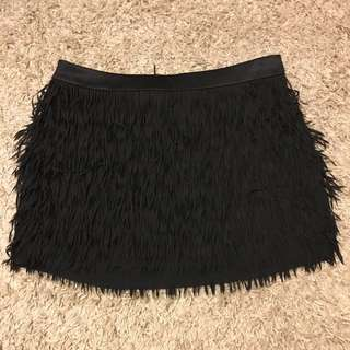 Express Size Medium Black Fringe Skirt