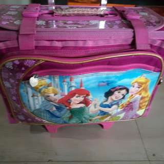 Disney Princesses School Bag Trolley
