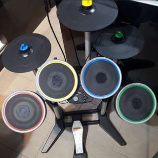 PS3 Rock Band 3 Wireless Sans Fil Pro drum Pro Cymbals kit with Games