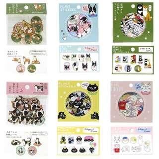 (訂購) 日本 和風 貓狗 貼紙