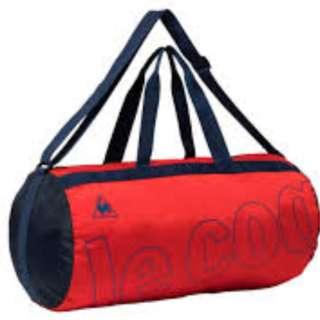 BNIB with Tags - Le Coq Sportif Compact Boston Bag Red. Pocketable Duffle Bag