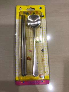 Chopstick with spoon ( Winnie the Pooh)